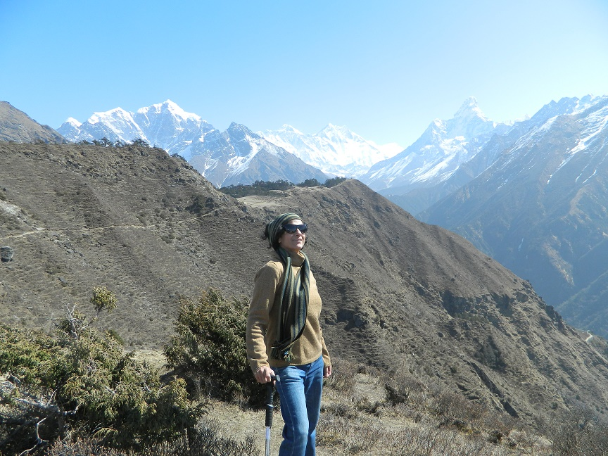 Mighty Mt Everest in the backdrop