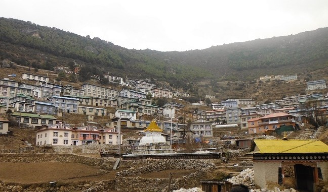 Namche Bazaar panorama