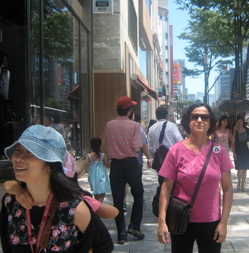 Me stroll through Pedestrians' Paradise, Tokyo