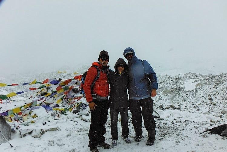 Me with Rahul & Bob, Everest Base Camp