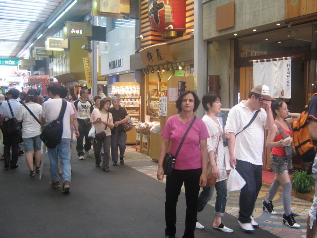 Me strolling through Pedestrians' Paradise, Tokyo