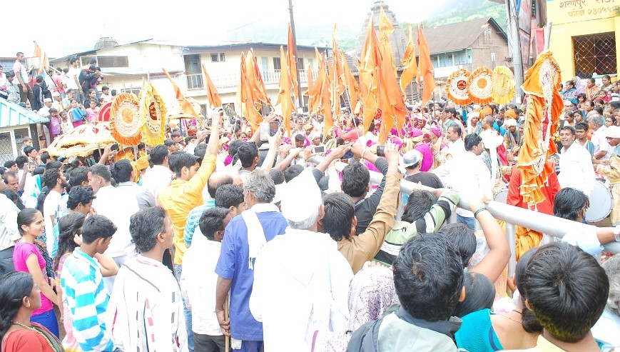 Devotees at Nasik Kumbh, India