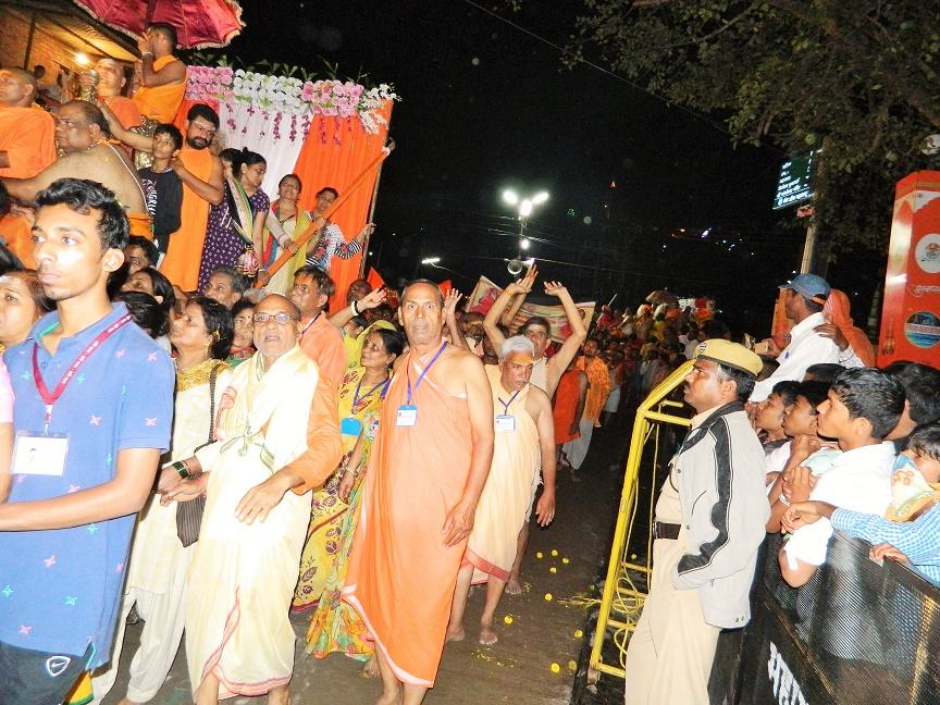 Procession for Royal Dip at Kumbh