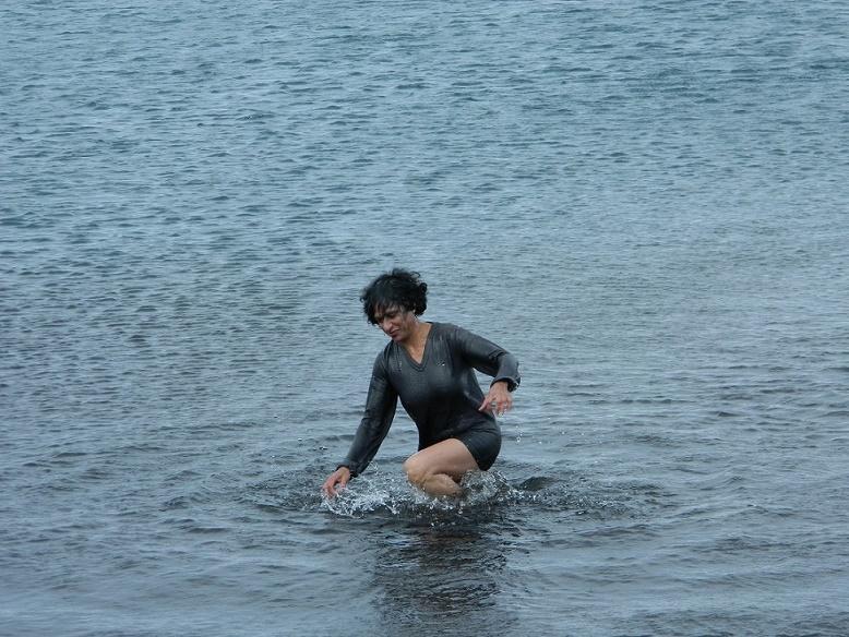 Me taking polar plunge