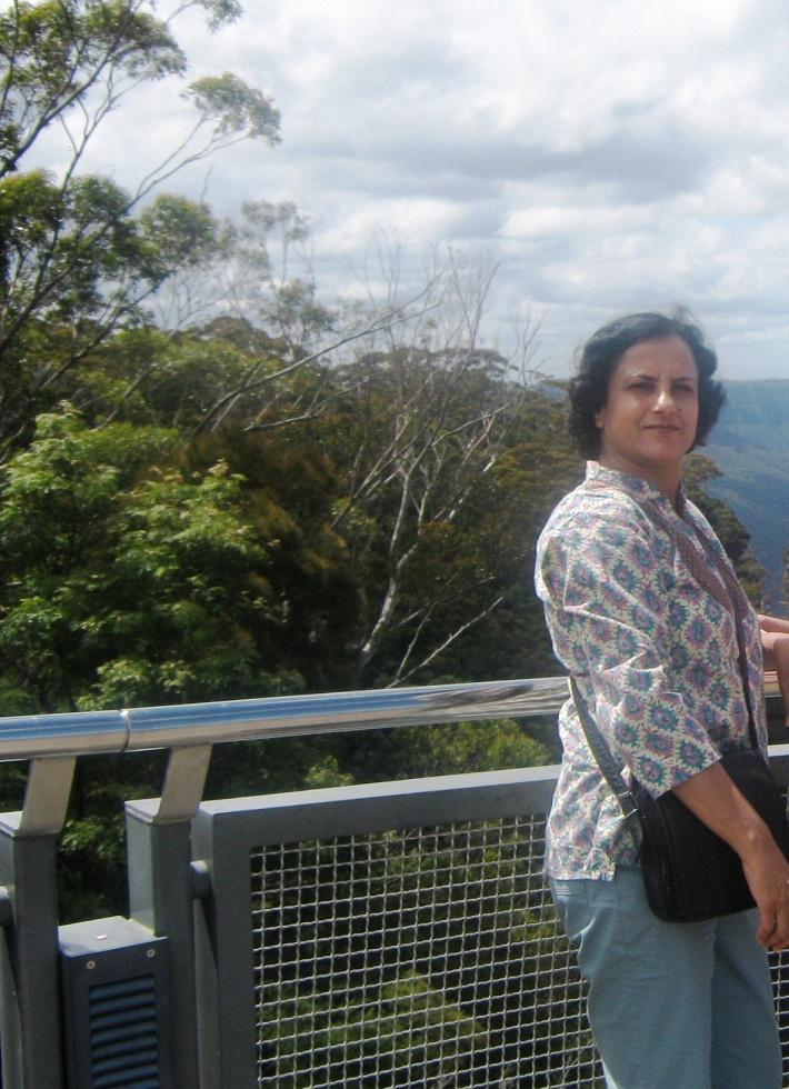 Relishing great vistas.
