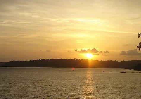 Sunset view bird Island, Andaman