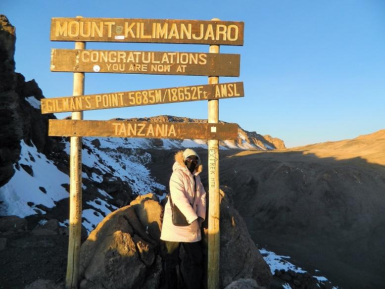 Me at mount Kilimanjaro. My incredible feat.